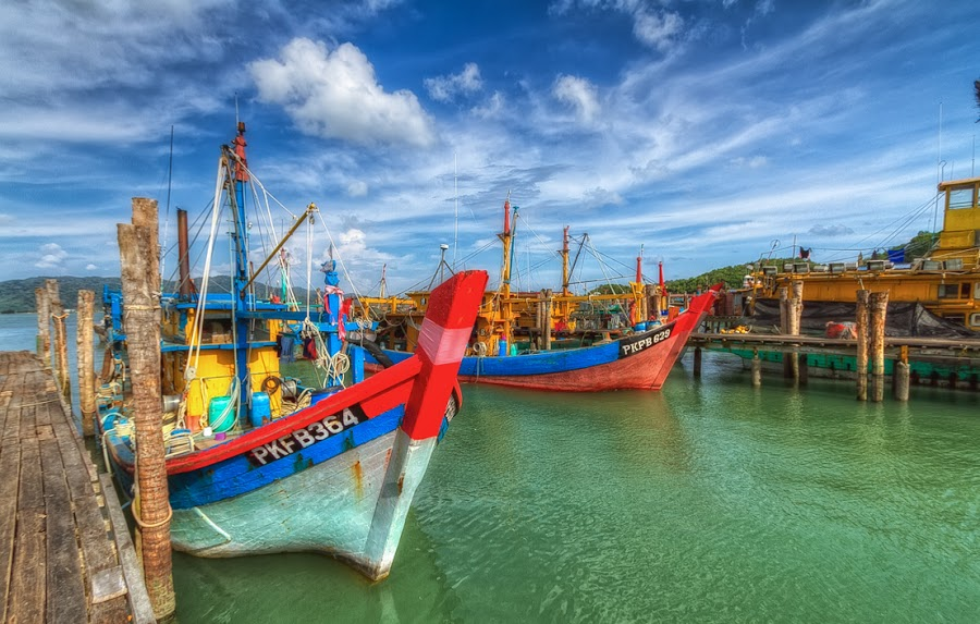 Fishing Boats by Arul Aruleswaran - Transportation Boats