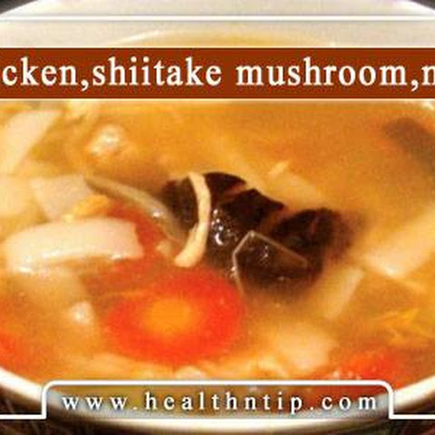 Chicken and Shiitake Mushroom Noodle Soup