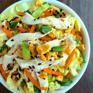 Rainbow Slaw with Chicken