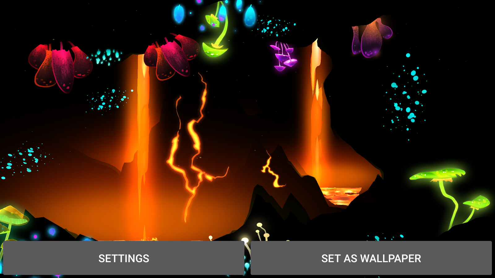 3D Fantasy Epic Lava Cave LWP Screenshot 10