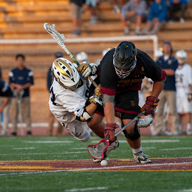 Airborne and all out by Kevin Mummau - Sports & Fitness Lacrosse ( parallel, lateral, dive, faceoff, lacrosse )