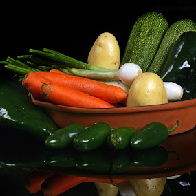 Vegetables by Cristobal Garciaferro Rubio - Food & Drink Fruits & Vegetables ( chile, carrot, vegetables, potato, pwcvegetables, onion )