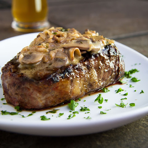 Fillet Steaks with Mushroom & Whiskey Sauce (Or as Zoë says, the best sauce she has ever had)