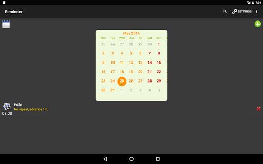 Reminder - screenshot