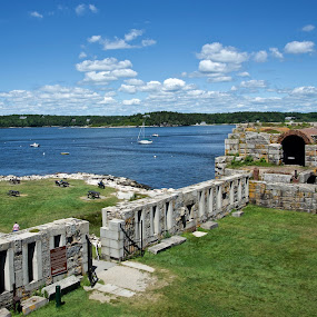 Fort Popham by Joe Fazio - Buildings & Architecture Decaying & Abandoned ( maine, fort popham, beach, forts, fort, mid-coast maine, phippsburg )
