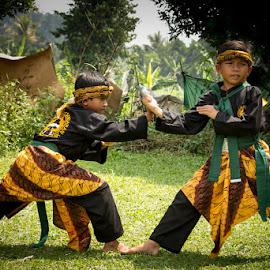 Martial Arts Warrior by Muhamad Ramlan Setiawan - Babies & Children Children Candids ( bogor, silat, indonesia, street, candid, people, kampung budaya sindang barang )