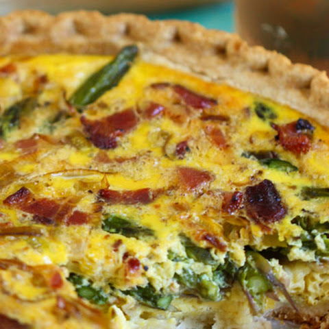 Asparagus, Leek, and Bacon Quiche