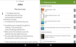 Screenshot of Message Bible+ by Olive Tree