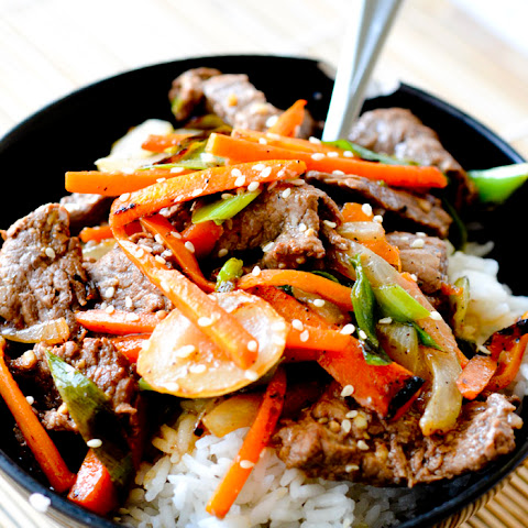 Grace Young's Stir-Fried Ginger Beef With Sugar Snaps And Carrots ...