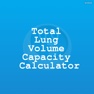 Total Lung Capacity Calculator