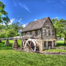 Village Mill by Teresa Husman - City,  Street & Park  City Parks ( mill, village, city park, historic,  )