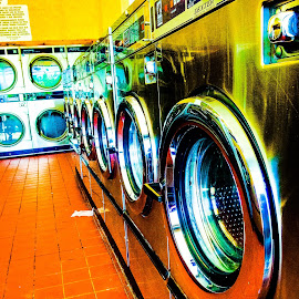 Laundromat by Cristina Duarte - Instagram & Mobile iPhone ( circular, dryer, wash clothes, washateria, machine, laundry, curves )