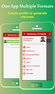 My Resume Builder,CV Free Jobs screenshot for Android