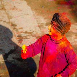 Happy Holi by Sanjeev Goyal - Babies & Children Children Candids ( get, set, run, and, go )