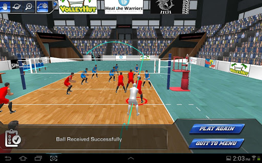 VolleySim Defense - screenshot