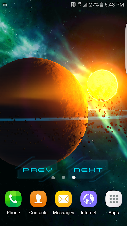 3D Galaxy Pack Live Wallpaper Screenshot 3