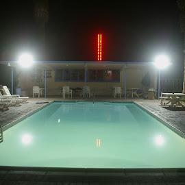 Stanlunds Resort Pool by Jon A. Hartz Sr. - Buildings & Architecture Other Exteriors ( desert, pool, anza-borrego, california, borrego springs )