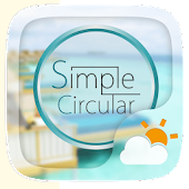 Simple Circular Weather Widget