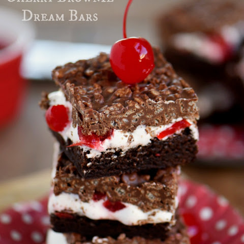 Cherry Brownie Dream Bars