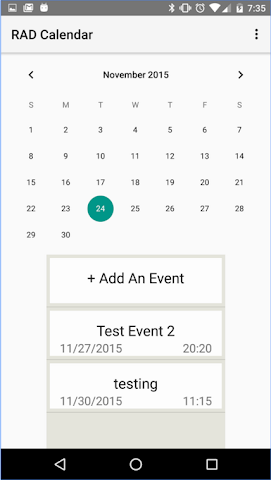 android RAD Calendar (NEW!) Screenshot 0