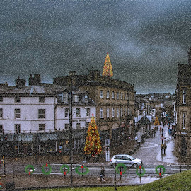 THOUGHT I'D MAKE THE TOWN CENTRE A LITTLE MORE FESTIVE ,LOLS by Roger Beverley - City,  Street & Park  Street Scenes (  )
