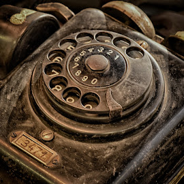 Device Number 3471 by Marco Bertamé - Artistic Objects Antiques ( old, handset, vintage, dial path, number, round, circle, 3471, 3, bell, 2, 1, 0, 7, 6, 5, 4, 9, 8, telephone )