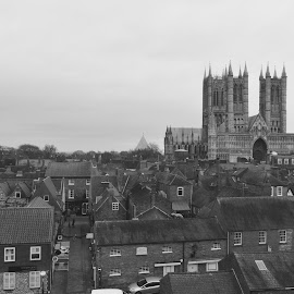 Lincoln cathedral  by Andy Mansell - Buildings & Architecture Places of Worship ( black and white, buildings, cathedral, worship )