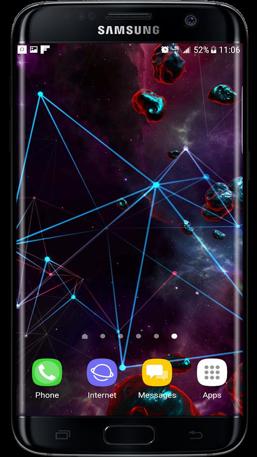 Particle Plexus Sci Fi 3D Live Wallpaper Screenshot 3