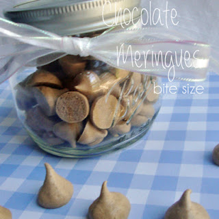 Chocolate Meringues Bite Size