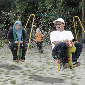Fun Ride by Shoox De LightPainter - People Fine Art