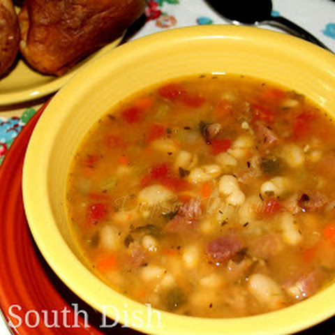 Ham and Sausage White Bean Stew