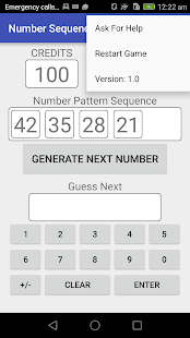 Number Sequence - screenshot