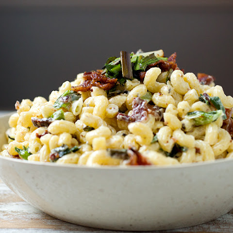 Charred Scallion & Bacon Macaroni Salad