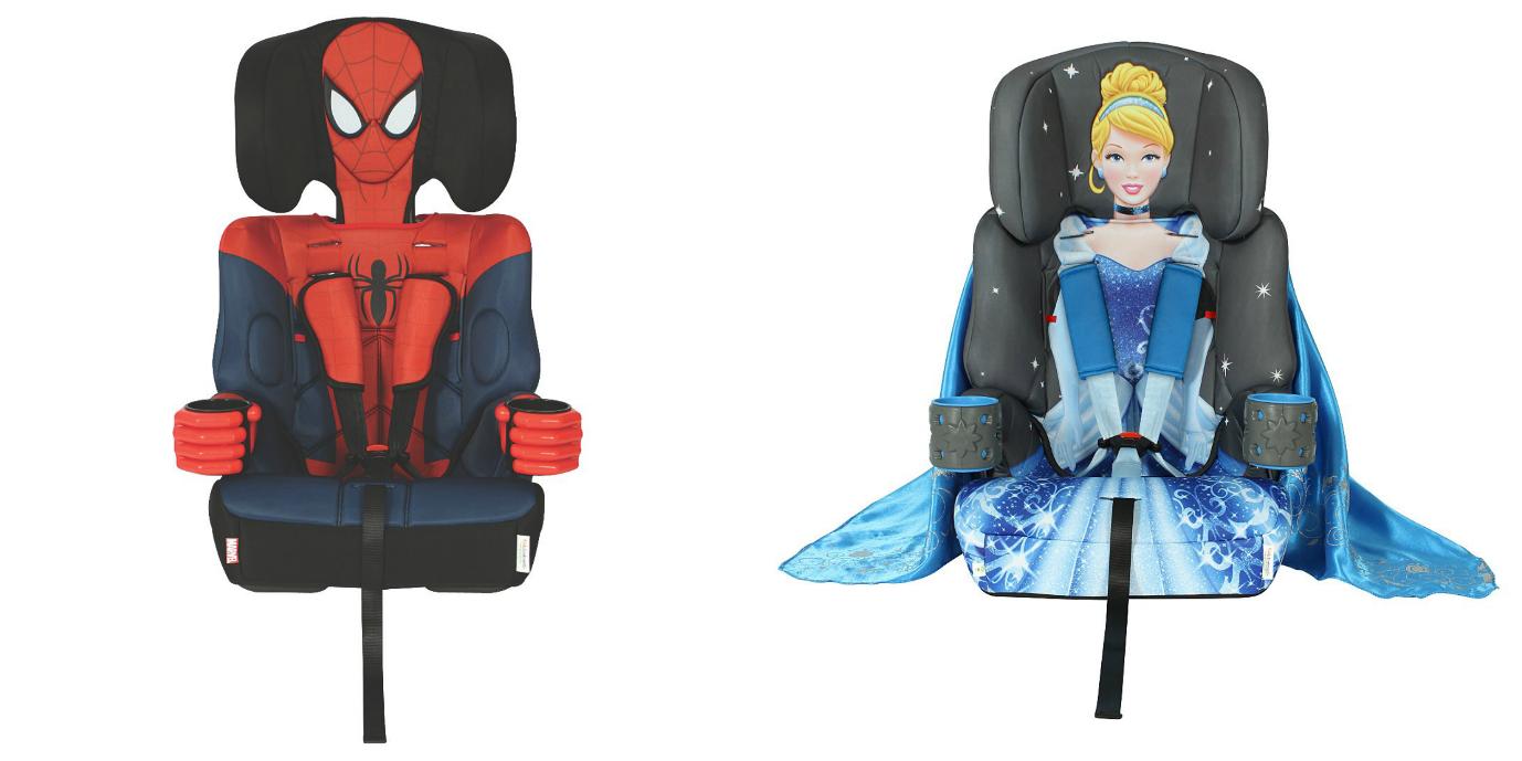 spiderman and cinderella car seat