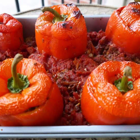 Stuffed Peppers with Cauliflower Rice (Paleo)