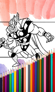 Superhero Coloring Book 2017 APK Screenshot Thumbnail 4