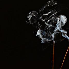 Smoke Patterns by Prasanta Das - Abstract Patterns ( incense sticks, patterns, smoke )