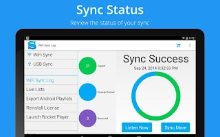 Screenshot of iSyncr for iTunes for Android