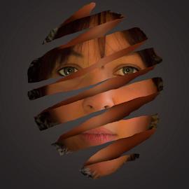 apple peal face affect by Paul Scullion - Digital Art People ( photoshop art, face, digital art, digital, portrait, photoshop, pepole,  )