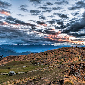 Sunrise at Punner Vally, near Rudranath, Uttarakhand, India. by Arindam Chakrabarty - Landscapes Mountains & Hills