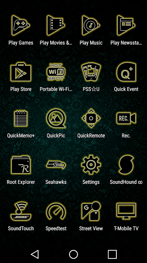 Glowist Yellowish - Icon Pack Screenshot 5