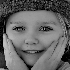 Oh Me Oh My! BW by Cheryl Korotky - Black & White Portraits & People