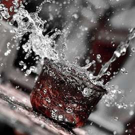 Cherry Wine by Muhammad Nurnaaim - Abstract Water Drops & Splashes