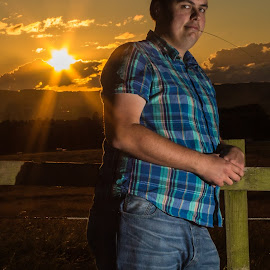 Pretending to be Rural by Marc Steele - People Portraits of Men ( marc, england, uk, nottinghamshire, bestwood country park, summer, evening, nottingham, rural, man, portrait, country )