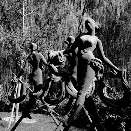 stilts by Rebecca Pollard - Black & White Objects & Still Life