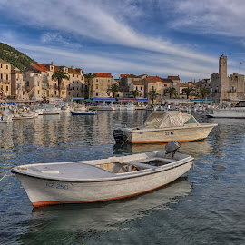 Komiza by Dubravka Krickic - Landscapes Travel ( peaceful, sky, village, komiza, boats, croatia, seaside, small )