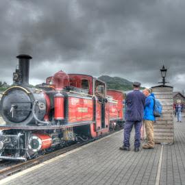 Ffestiniog Railway Double Fairlie 'David Lloyd George' at Porthmadog by David Garnett - Transportation Trains ( ffestiniog railway, david lloyd george, wales, porthmadog, narrow gauge, double fairlie )