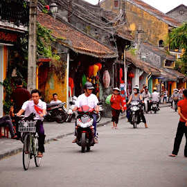 ancient town by Donna Racheal - City,  Street & Park  Street Scenes ( ancient town, vietnam, street scene, city street, neighbourhood,  )