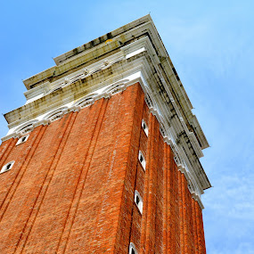 Square by Seamus Crowley - Buildings & Architecture Public & Historical ( angles, orange, red, brick, venice, square, tall )