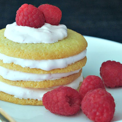 Bright Lemon Raspberry Cookie Stacks